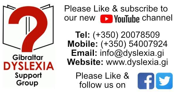 Gibraltar Dyslexia Support Group